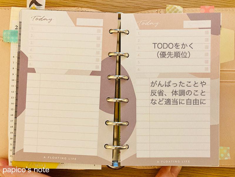 システム手帳TODO