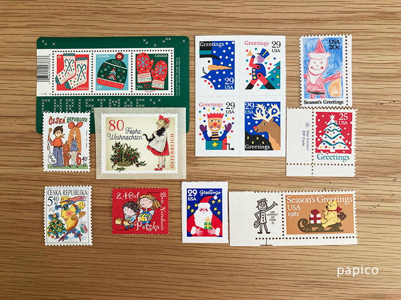 クリスマス海外切手